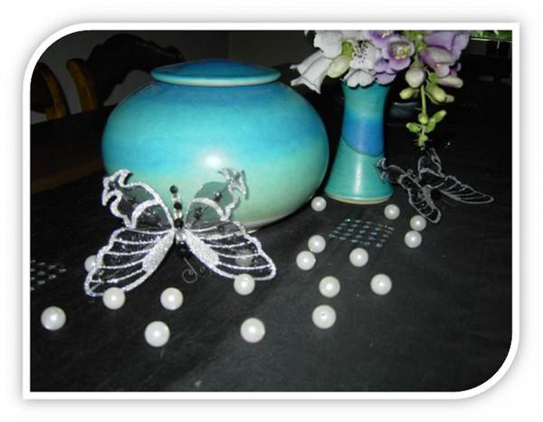 Türkis mit Vase